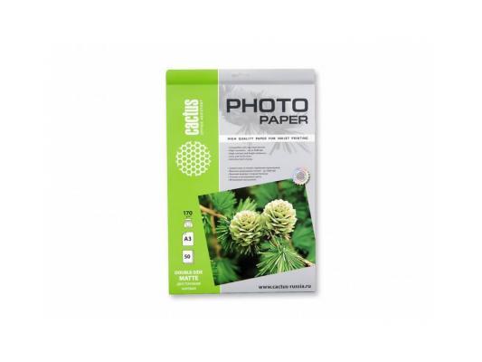 Фотобумага Cactus CS-MA317050DS матовая двухсторонняя А3 170 г/м2 50 листов