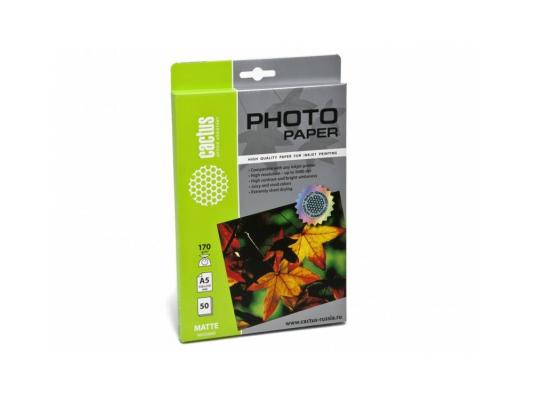 Фотобумага Cactus CS-MA517050 матовая А5 210*148мм 170 г/м2 50 листов
