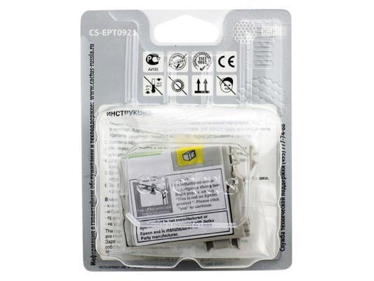 Струйный картридж Cactus CS-EPT0921 черный Epson Stylus C91/CX4300/T26/T27TX106 250стр.