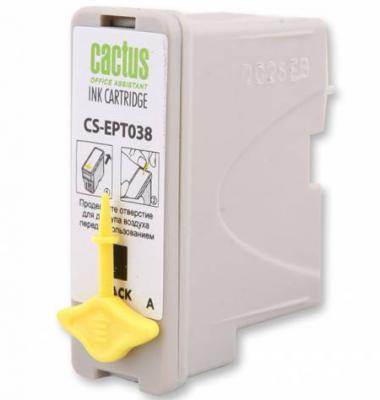 Струйный картридж Cactus CS-EPT038 черный для Epson Stylus C43 360стр. картридж cactus cs ept1634 для epson wf 2010 2510 2520 2530 2540 2630 2650 2660 желтый