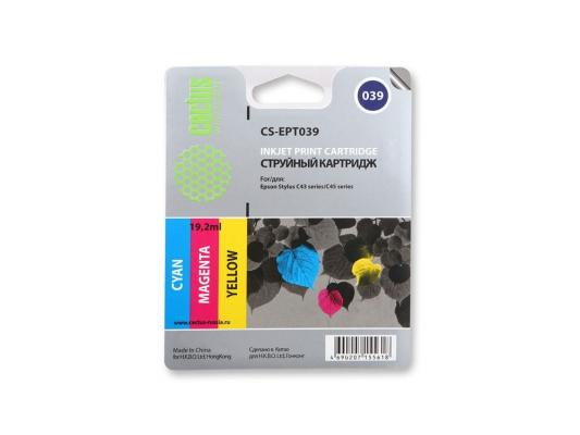 Струйный картридж Cactus CS-EPT039 цветной для Epson Stylus C43 550стр. принтер струйный epson l312