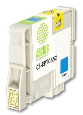 Струйный картридж Cactus CS-EPT0552 голубой для Epson Stylus RX520/R240 300стр. струйный картридж cactus cs ept0554 желтый для epson stylus rx520 r240 350стр