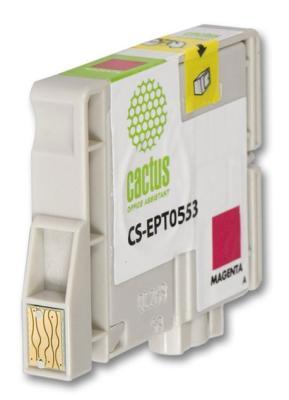 Струйный картридж Cactus CS-EPT0553 пурпурный для Epson Stylus RX520/R240 300стр. струйный картридж cactus cs ept0554 желтый для epson stylus rx520 r240 350стр