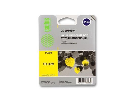 Струйный картридж Cactus CS-EPT0594 желтый для Epson Stylus Photo R2400 560стр. принтер струйный epson l312
