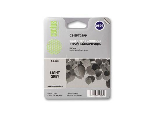 Струйный картридж Cactus CS-EPT0599 серый для Epson Stylus Photo R2400 440стр.