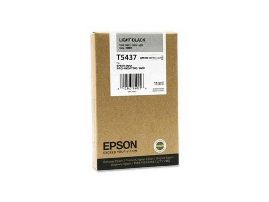 Картридж Epson C13T543700 для Epson Stylus Pro 7600/9600 серый картридж epson c13t543500 для epson stylus pro 7600 9600 светло голубой