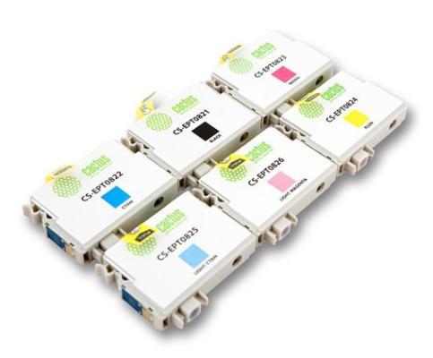 Струйный картридж Cactus CS-EPT0827 цветной для Epson Stylus Photo R270/290/RX590 2880стр. 6шт. cactus cs ept347 gray картридж струйный для epson stylus photo 2100