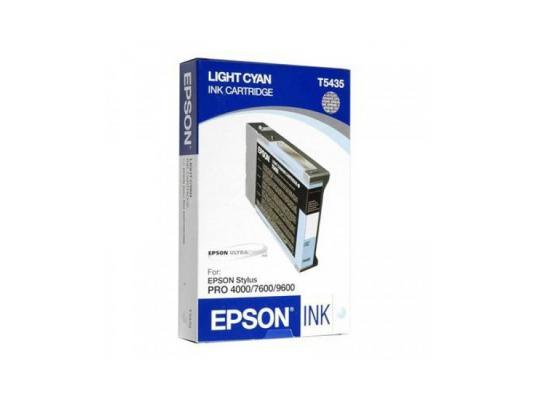 Картридж Epson C13T543500 для Epson Stylus Pro 7600/9600 светло-голубой картридж epson original t08254a для r270 390 rx590 светло голубой c13t11254a10