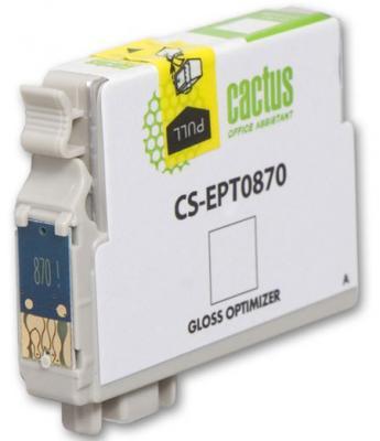 Струйный картридж Cactus CS-EPT0870 глянцевый для Epson Stylus Photo R1900 3620стр. картридж cactus cs ept1634 для epson wf 2010 2510 2520 2530 2540 2630 2650 2660 желтый