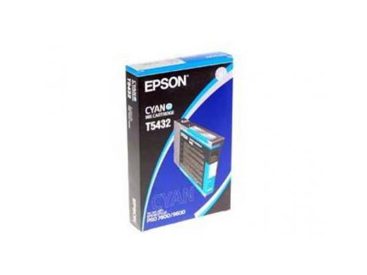 Картридж Epson C13T543200 для Epson Stylus Pro 7600/9600 голубой картридж epson c13t543500 для epson stylus pro 7600 9600 светло голубой