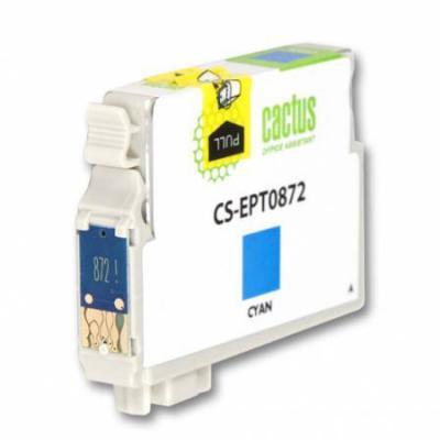 Струйный картридж Cactus CS-EPT0872 голубой для Epson Stylus Photo R1900 картридж струйный cactus cs ept341