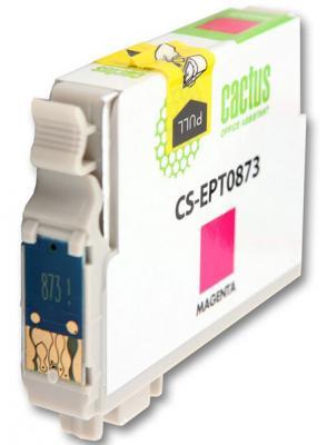 Струйный картридж Cactus CS-EPT0873 пурпурный для Epson Stylus Photo R1900 900стр. cactus cs ept347 gray картридж струйный для epson stylus photo 2100
