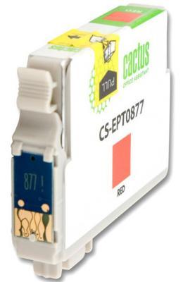 Струйный картридж Cactus CS-EPT0877 красный для Epson Stylus Photo R1900 920стр. картридж cactus cs ept1634 для epson wf 2010 2510 2520 2530 2540 2630 2650 2660 желтый