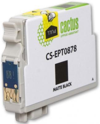 Струйный картридж Cactus CS-EPT0878 черный для Epson Stylus Photo R1900 530стр. картридж cactus cs ept0874 для epson stylus photo r1900 желтый