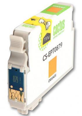 Струйный картридж Cactus CS-EPT0879 оранжевый для Epson Stylus Photo R1900 1220стр. cactus cs ept347 gray картридж струйный для epson stylus photo 2100