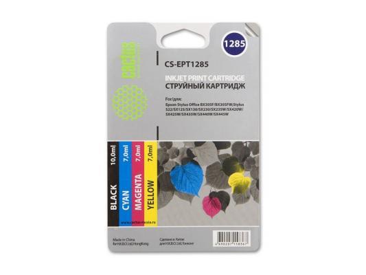 Струйный картридж Cactus CS-EPT1285 цветной для Epson Stylus S225/BX305 215стр. 4шт. цена и фото
