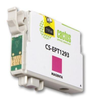 Струйный картридж Cactus CS-EPT1293 пурпурный для Epson Stylus Office B42/BX305/BX305F/BX320 390стр.