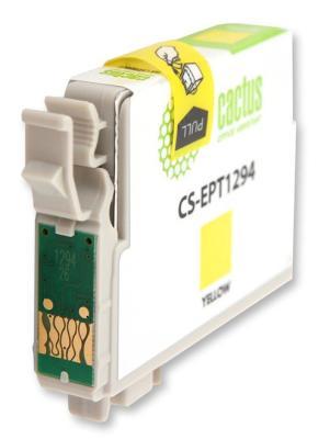 Струйный картридж Cactus CS-EPT1294 желтый для Epson Stylus Office B42/BX305/BX305F/BX320 630стр. принтер струйный epson l312