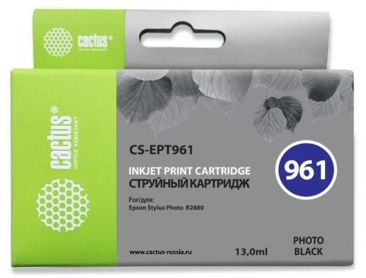Струйный картридж Cactus CS-EPT961 черный для Epson Stylus Photo R2880 450стр.