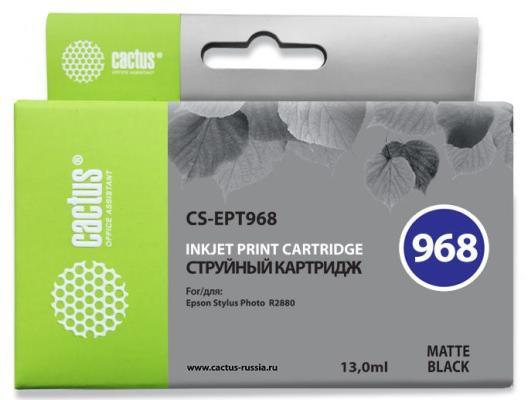 все цены на  Струйный картридж Cactus CS-EPT968 черный матовый для Epson Stylus Photo R2880  онлайн
