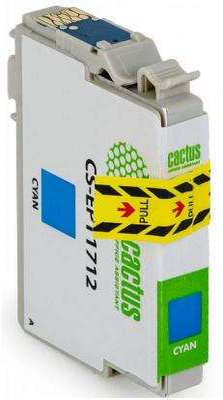 Струйный картридж Cactus CS-EPT1711 голубой для Epson Expression Home XP-33/103/203/207/303/306/403/406