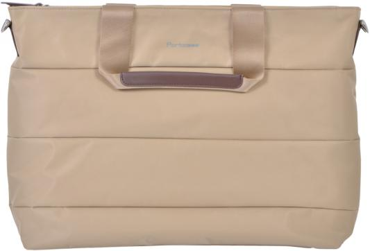 Сумка для ноутбука PORTCASE KCB-73 до 15,6 (женская, бежевый, полиэстр, 43 x 31,4 x 7,8 см.) сумка для нотбука 15 6 portcase kcb 03 black нейлон