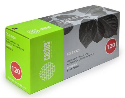 Лазерный картридж Cactus CS-LX120 черный для Lexmark E120N 2000стр. цена