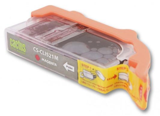 Струйный картридж Cactus CS-CLI521C/M/Y цветной для Canon Pixma MP540/MP550/MP620/MP630 чернила cactus cs i pgi520bk для canon pixma mp540 mp550 mp620 mp630 mp640 100мл черный