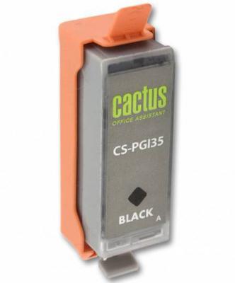 Струйный картридж Cactus CS-PGI35 черный для Canon iP100 200стр. чернильный картридж canon pgi 29pm