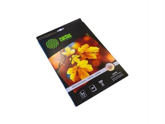 Бумага Cactus CS-SMA628020 10x15см 280г/кв.м шелковисто-матовая 20л.