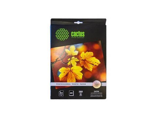 Бумага Cactus CS-SMA428020 А4 280г/м2 шелковисто-матовая 20листов