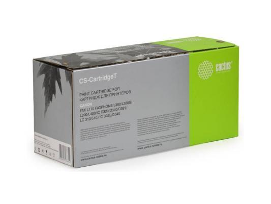 Лазерный картридж Cactus CS-CartridgeT черный для Canon Fax L170 Faxphone L380/L380S/L390/L400 /D320/D340/D383/310/510/D320/D340 3500стр. micromax d340 черный