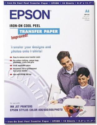 Фотобумага Epson C13S041154 A4 124г/м2 термопереводная 10 листов