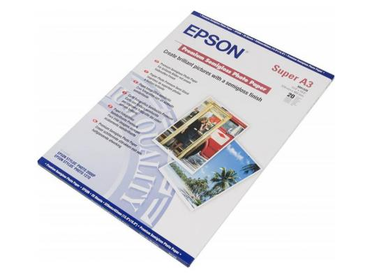 Фотобумага Epson C13S041328 A3+ 251г/м2 полуглянцевая 20 листов фотобумага epson c13s041316 a3 250г м2 глянцевая 20 листов