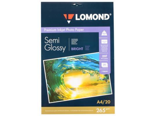 Фотобумага Lomond A4 265г/м2 20л полуглянцевая 1106301 for hp 122 black ink cartridge for hp 122 xl deskjet 1000 1050 2000 2050 3000 3050a 3052a printer