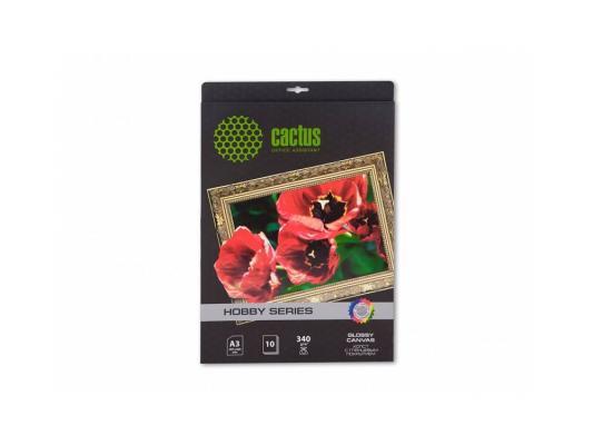 Холст Cactus CS-СGA32601 А3 340 г/м2 10л хлопковая глянцевая