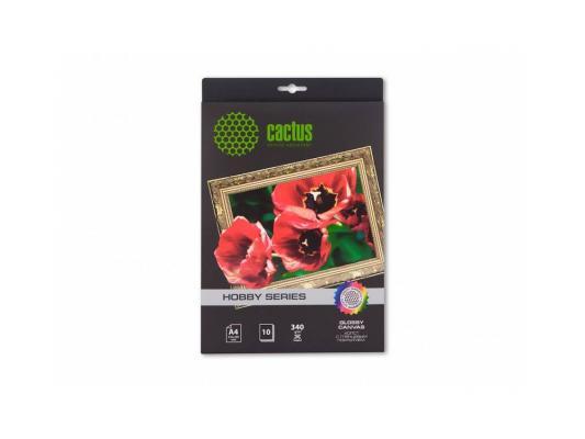 Холст Cactus CS-СGA426010 А4 340 г/м2 10л хлопковая глянцевая