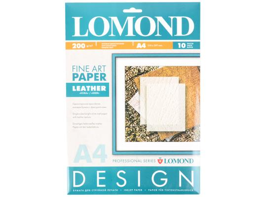 Фотобумага Lomond 0918041 A4 200г/м2 глянцевая 10 листов дизайнерская бумага lomond a4 200г м2 глянцевая двухсторонняя 250л 0310341