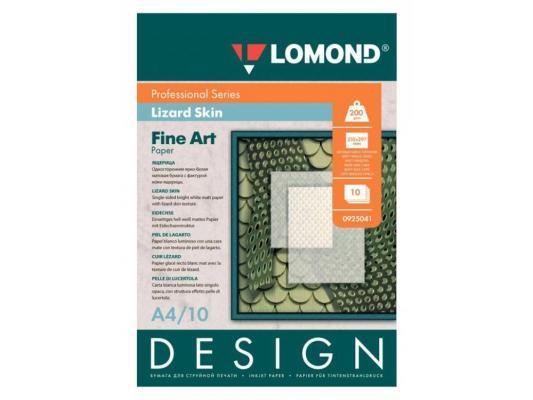 Фотобумага Lomond 925041 Lomond A4 200г/м2 матовая 10 листов дизайнерская Ящерица