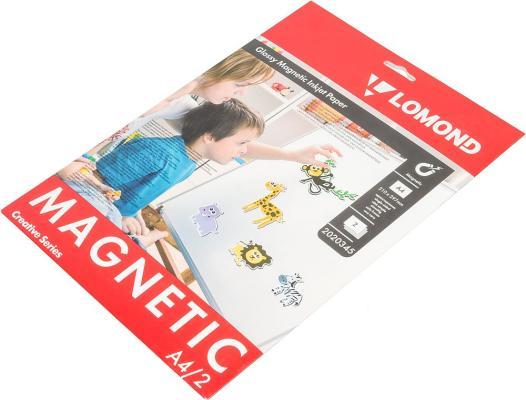 Фотобумага Lomond 2020345 A4 660г/м2 глянцевая с магнитным слоем 2 листа
