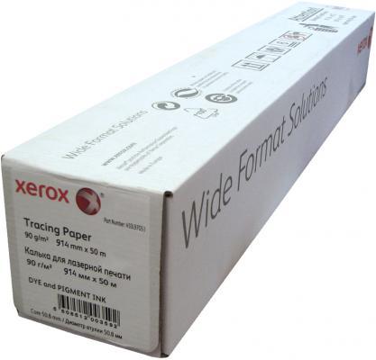 Бумага Xerox 36 A0 914мм х 50м 90г/м2 калька рулон матовая для струйной печати 450L97053 бумага hp 36 a0 914мм х 91 4м 90г м2 рулон для струйной печати ярко белая c6810a