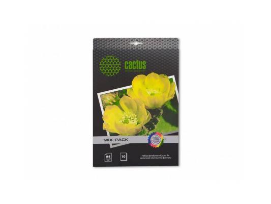 Набор фотобумаги Cactus CS-MIXPACK А4 различной плотности и фактуры 21л