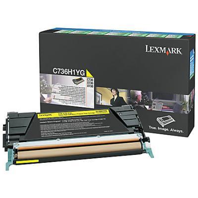 Тонер картридж Lexmark C736H1YG желтый для C73X/X73X (10 000 стр) картридж lexmark c736h1mg для c73x x73x пурпурный 10000стр