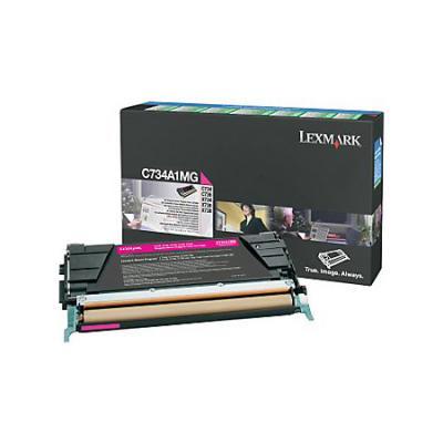 Тонер картридж Lexmark C736H1MG пурпурный для C73X/X73X (10 000 стр) картридж lexmark c736h1mg для c73x x73x пурпурный 10000стр