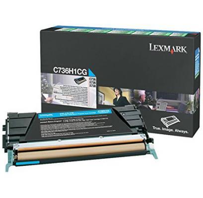 Тонер картридж Lexmark C736H1CG голубой для C73X/X73X (10 000 стр) тонер lexmark 10b042y yellow