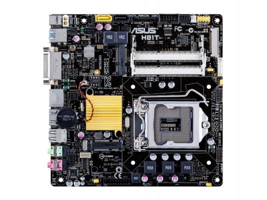 Мат. плата для ПК ASUS H81T Socket 1150 H81 2xDDR3 1xSATA II 1xSATAIII mini-ITX Retail
