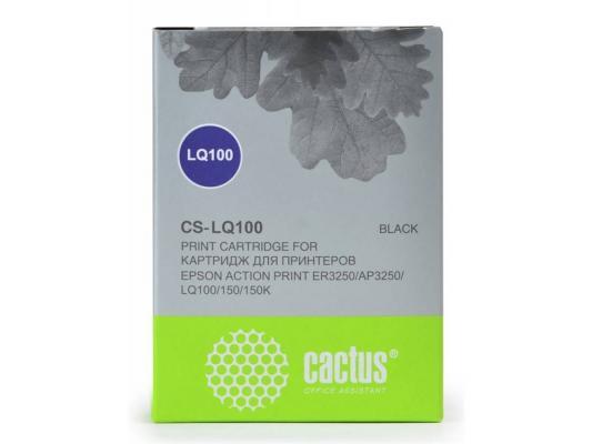 Картридж матричный Cactus CS-LQ100 для Epson LQ-100/ActionPrinter(AP)-3250 картридж матричный cactus cs fx2170 для epson fx lq 2070 2170 ресурс 9 000 000 зн black