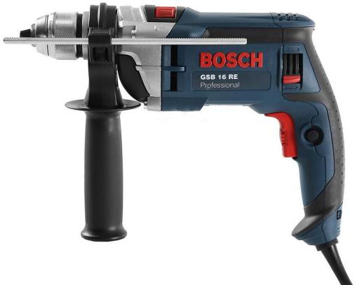 Ударная дрель Bosch GSB 16 RE БЗП 750Вт ударная дрель bosch gsb 1600 re