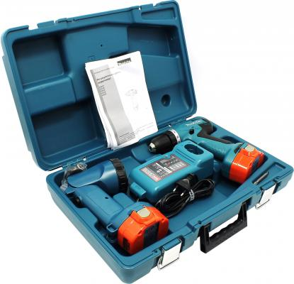 Аккумуляторная дрель-шуруповерт Makita 6281DWPLE + кейс + фонарь аккумуляторная дрель шуруповерт makita 6271 dwple