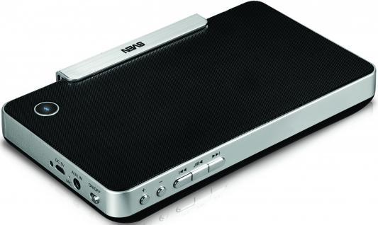 Колонки Sven PS-100BL , 2.0, мощность 2х3 Вт(RMS), Bluetooth, встроенный аккумулятор
